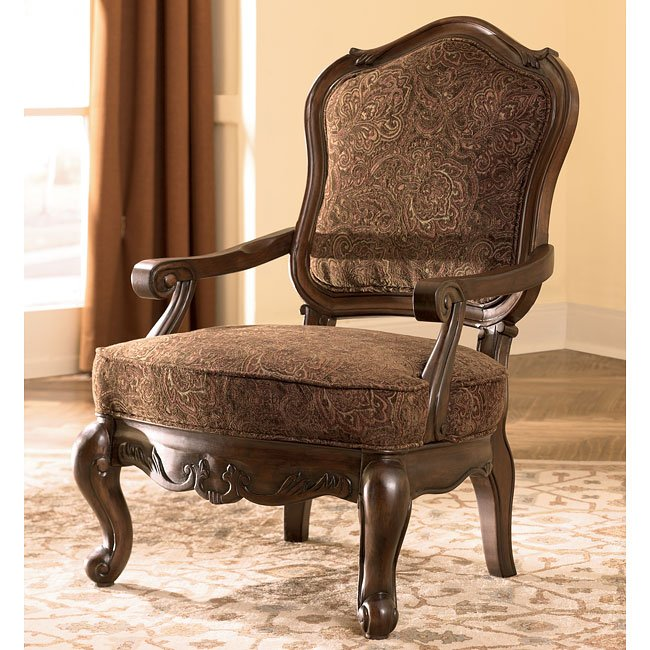 North Shore Dark Brown Showood Accent Chair Signature
