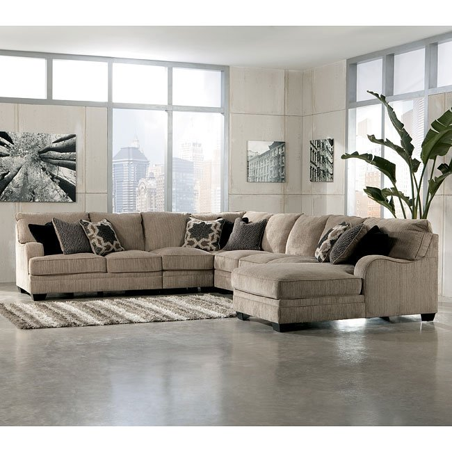 Katisha Platinum Large Modular Sectional w/ Chaise by Signature