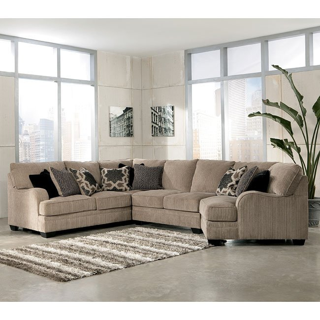 Katisha Platinum Sectional W Cuddler Signature Design By