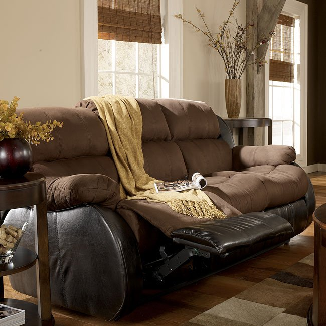 Presley Espresso Reclining Sofa W Massage Signature