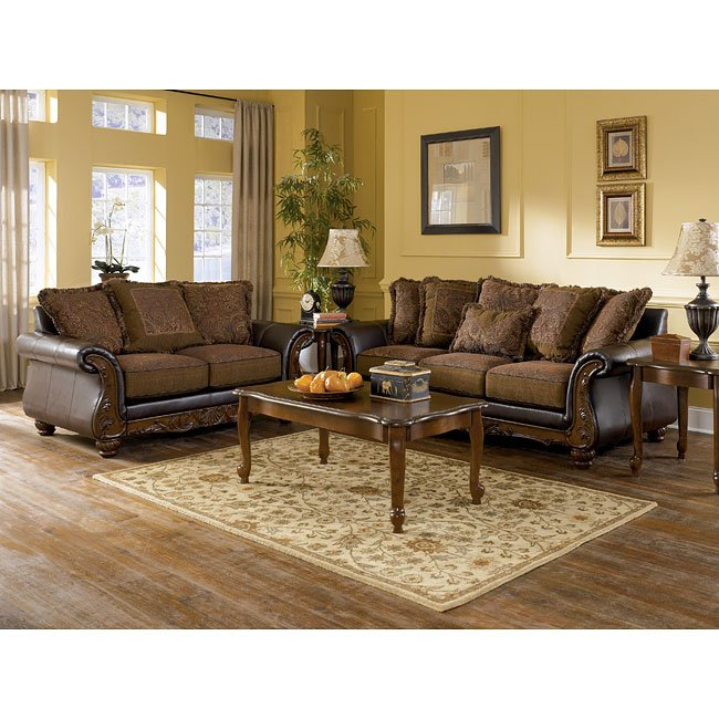 Wilmington Walnut Living Room Set Signature Design By Ashley Furniture Furniturepick