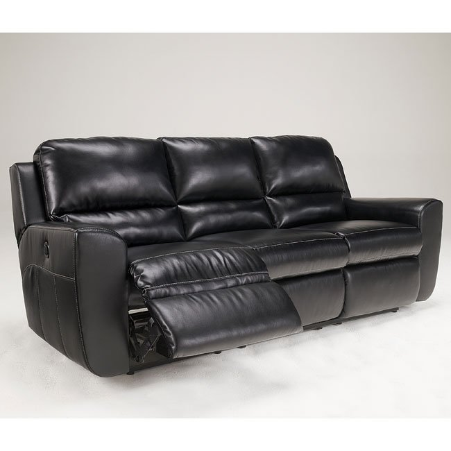 Leather Sofa Repairs Bromley: Black Reclining Sofa By Signature
