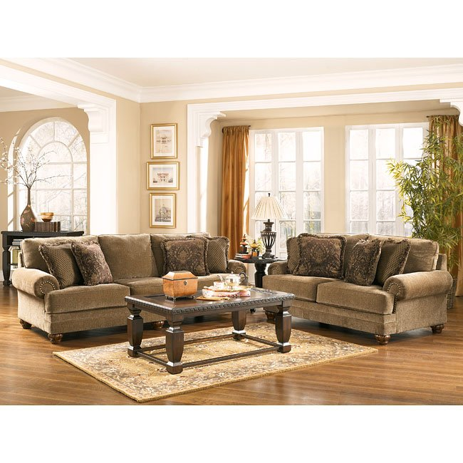 Stafford antique living room set by signature design by - Antique living room furniture sets ...