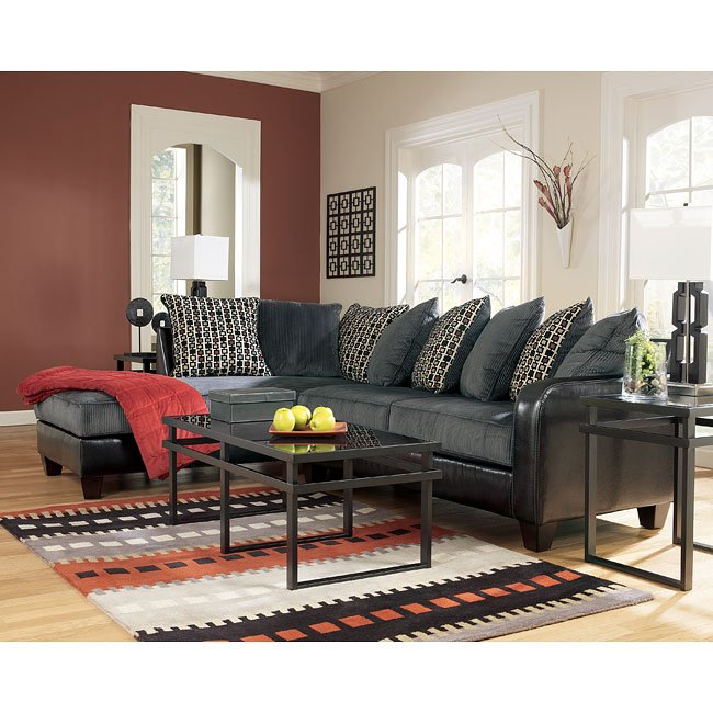 Living Room Furniture Nj: Pewter Sectional Living Room Set By Signature