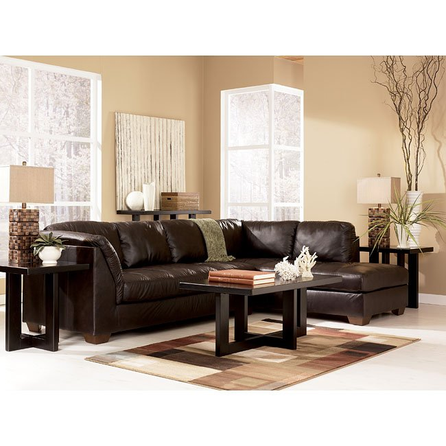 Superior Harrington   Chocolate Sectional Living Room Set