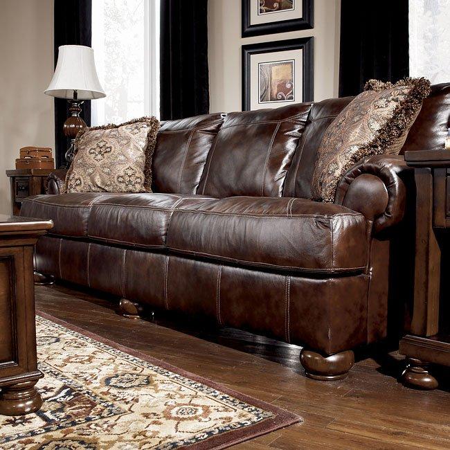 Axiom Walnut Sofa Signature Design By Ashley Furniture