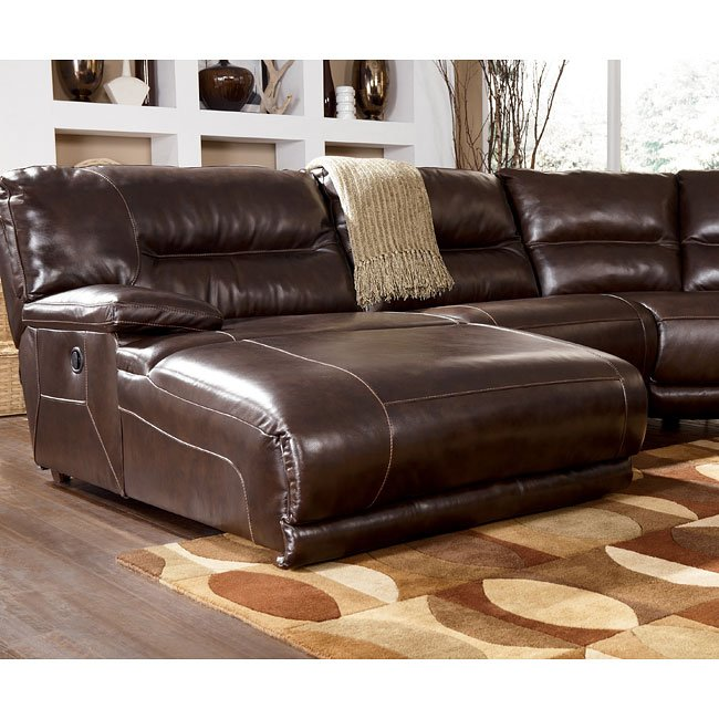 Exhilaration Chocolate Modular Reclining Sectional Set W