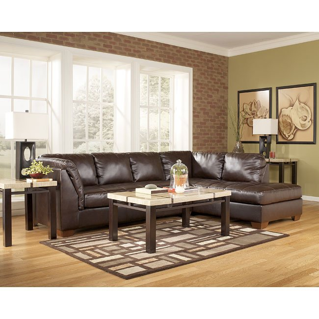 DuraBlend - Mahogany Sectional Living Room Set