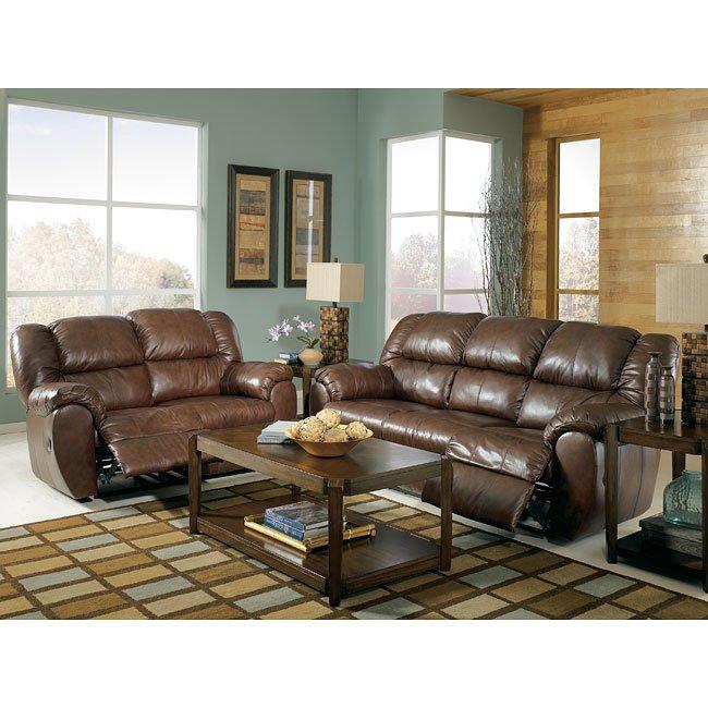 Ashley Furniture Living Room Set: Saddle Reclining Living Room Set Signature Design