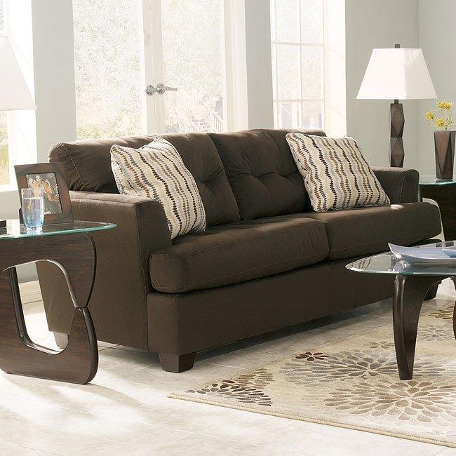 Ashley Furniture Stores Dallas: Chocolate Queen Sofa Sleeper By Signature Design
