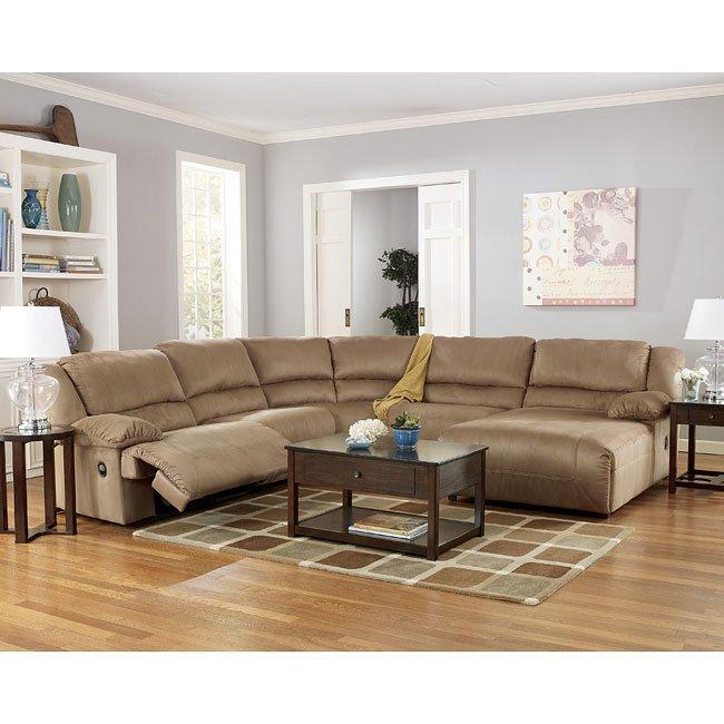 Ashley Home Furnishings: Mocha Chaise Sectional Living Room Set Signature