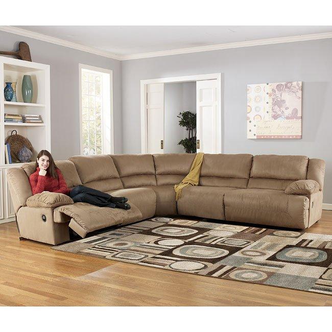 Ashley Furniture Washington Dc: Mocha Reclining Sectional By Signature Design By