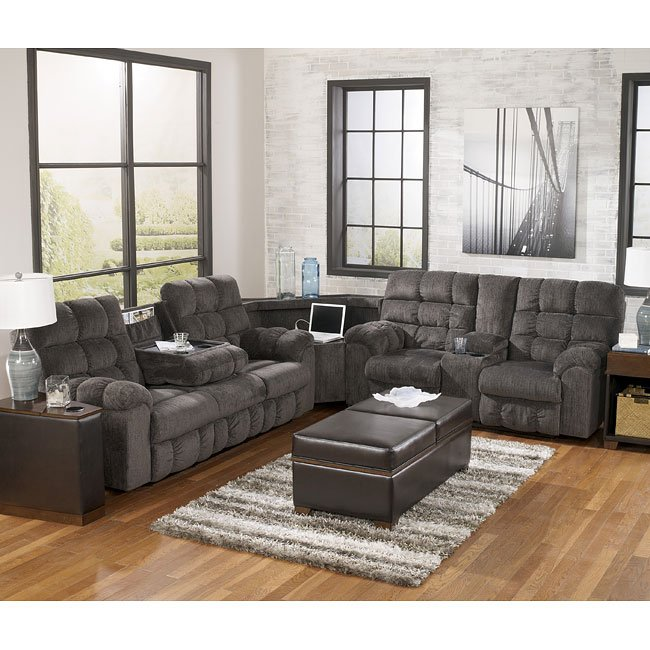 Acieona Slate Reclining Sectional By Signature Design By