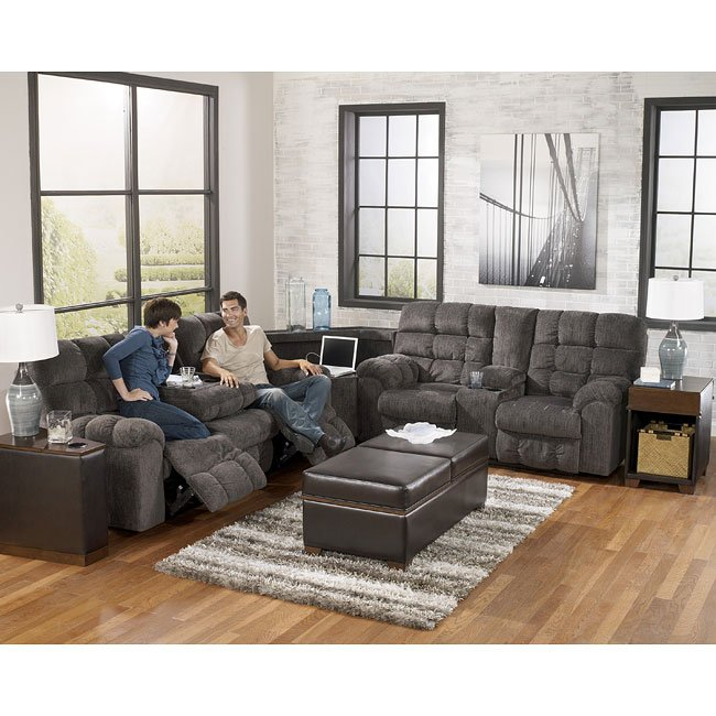 Acieona Slate Reclining Sectional Set Signature Design By