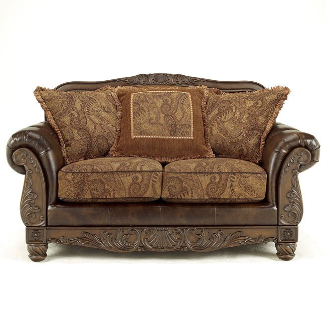 Fresco Durablend Antique Loveseat Signature Design By
