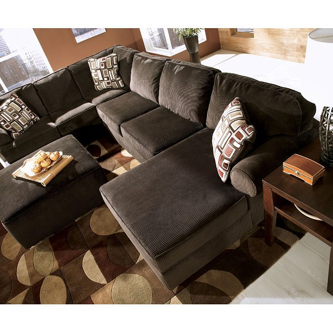 Vista - Chocolate Right Facing Chaise Sectional Signature ...