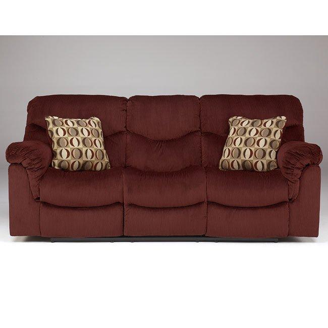 Motivation - Burgundy Reclining Sofa w/ Power