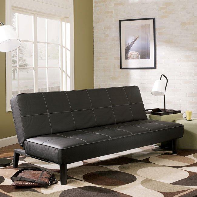 Vito Black Flip Flop Sofa