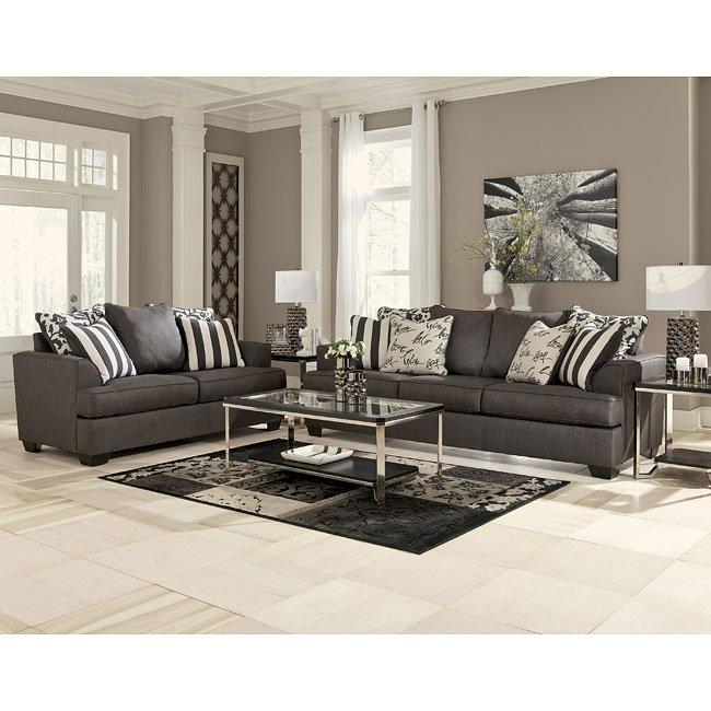 Levon Charcoal Living Room Set Signature Design By Ashley