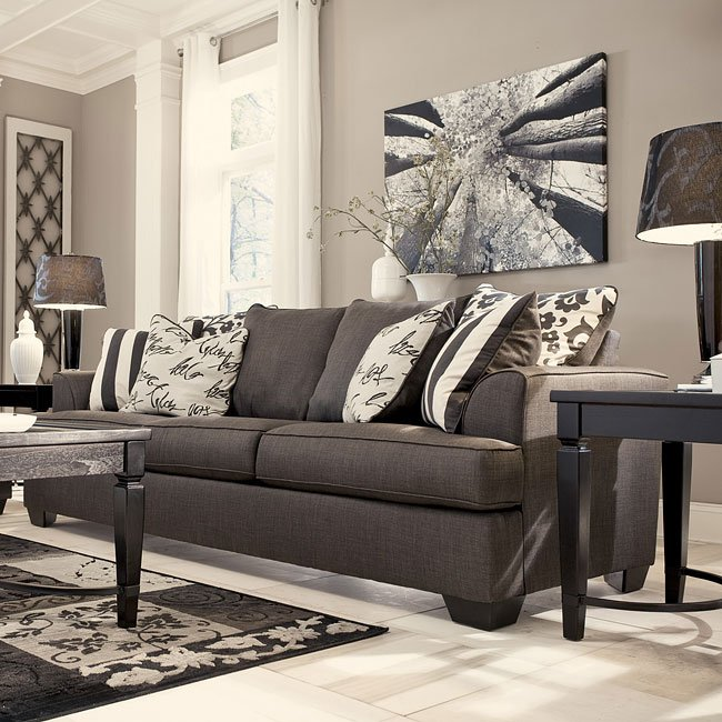 Ashley Furniture Signature Collection: Levon Charcoal Sofa By Signature Design By Ashley, 6