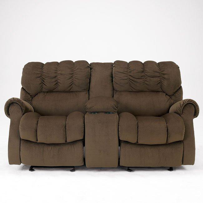 Incredible Sorrell Java Dual Glider Reclining Loveseat W Console Uwap Interior Chair Design Uwaporg