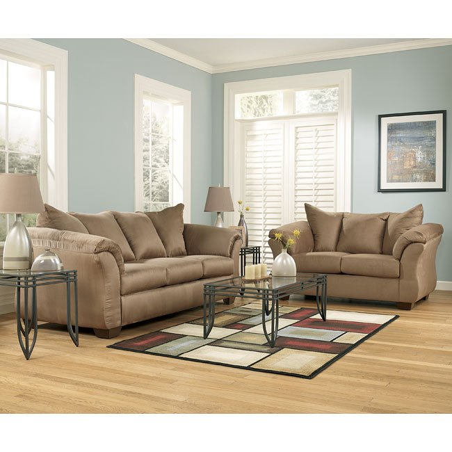 Darcy Mocha Living Room Set By Signature Design By