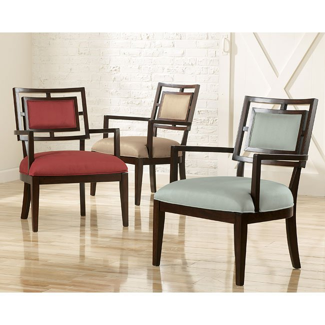 Aaron Red Showood Accent Chair Signature Design By