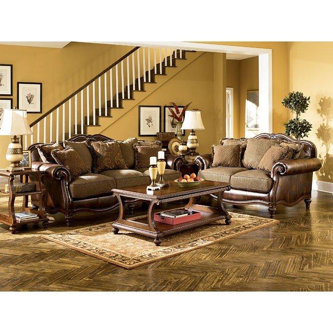 Claremore - Antique Living Room Set