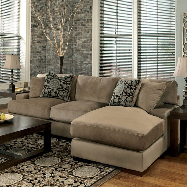 grenada mocha right chaise small sectional signature design by ashley furniture furniturepick. Black Bedroom Furniture Sets. Home Design Ideas