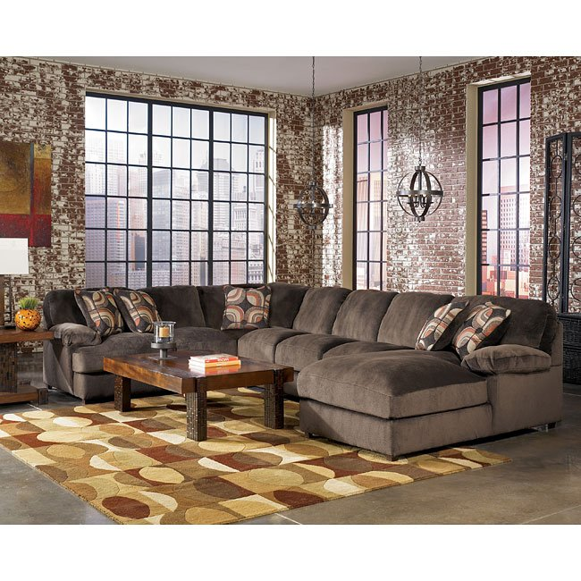 Ashley Furniture Denver Colorado: Truscotti - Cafe Large Chaise Sectional Set By Signature Design By Ashley