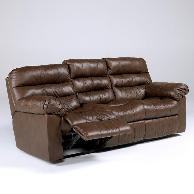 Memphis Brown Reclining Sectional Living Room Set By