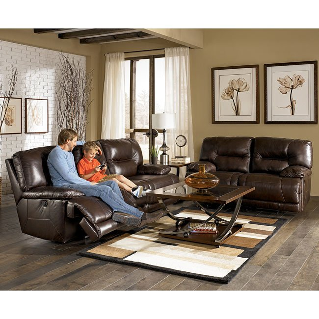 Leather Sofa Repairs Bromley: Brown Power Reclining Living Room Set By