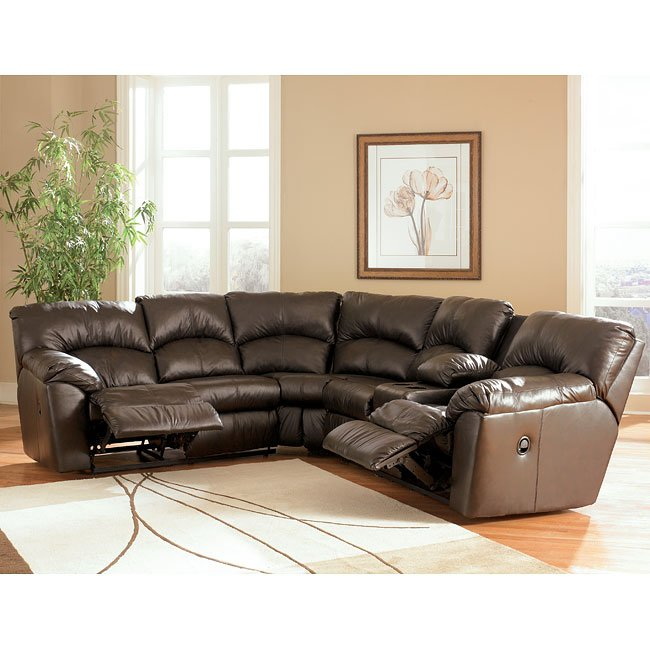 Kellum Chocolate Reclining Sectional By Signature Design By Ashley