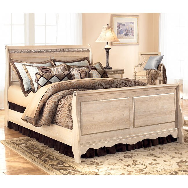 Silverglade sleigh bedroom set by signature design by - Ashley furniture pheasant run bedroom set ...