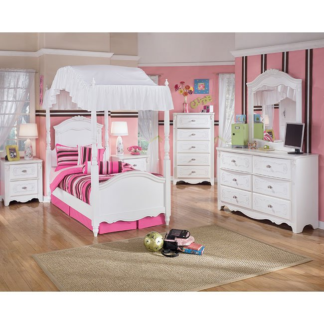 exquisite canopy bedroom set by signature design by ashley 11523 | sig b188 a cnp br set 1