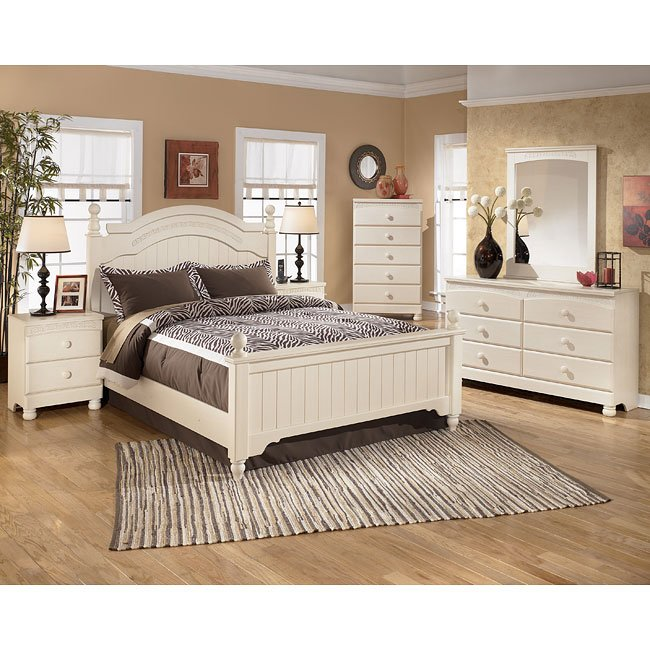 Cottage retreat poster bedroom set by signature design by ashley 1 reviews furniturepick for Cottage retreat bedroom set
