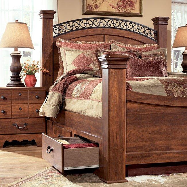 Timberline Sleigh Bedroom Set Signature Design: Timberline Poster Bed By Signature Design By Ashley