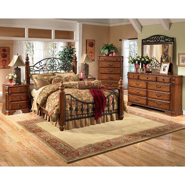 Wyatt Poster Bedroom Set Signature Design By Ashley Furniture Furniturepick