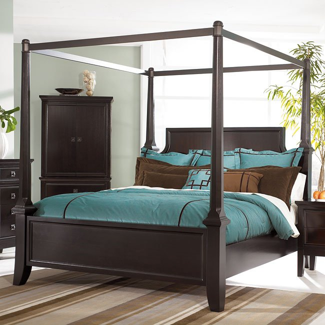 martini suite canopy bed by millennium furniturepick 15973 | sig b551 a canopy bed 1 3