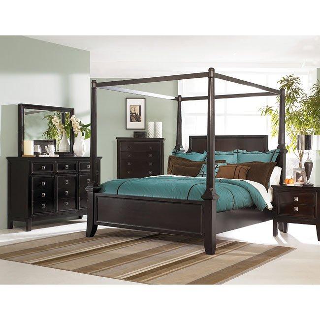 Martini suite canopy bedroom set by millennium furniturepick for Ashley millennium bedroom suite
