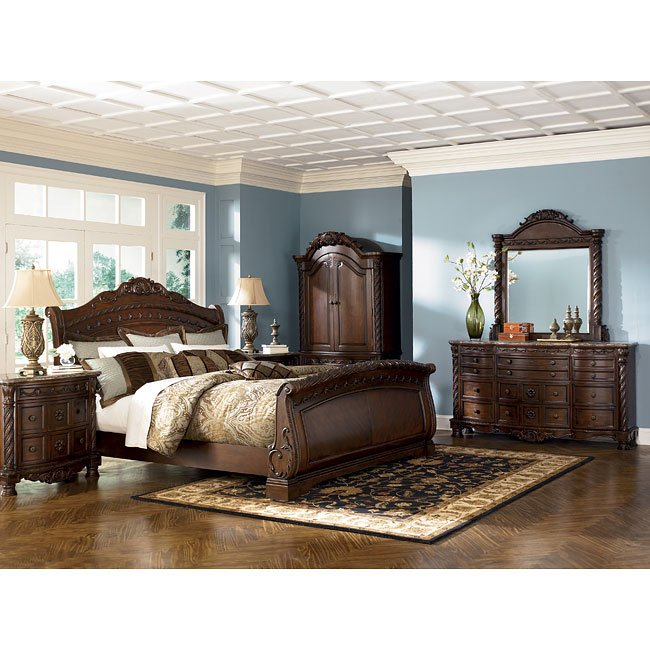 North Shore Sleigh Bedroom Set From Ashley B553: North Shore Sleigh Bedroom Set By Millennium, 4 Review(s