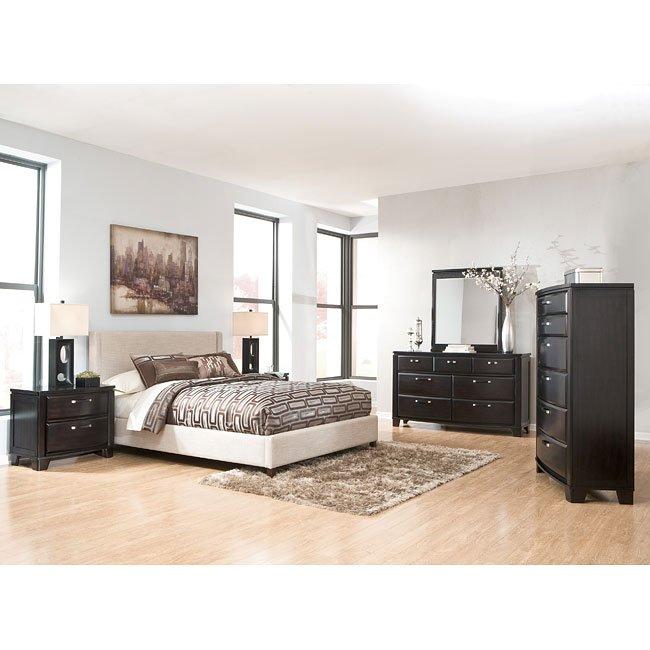 Emory Bedroom Set W Light Beige Upholstered Bed Signature Design By Ashley Furniture