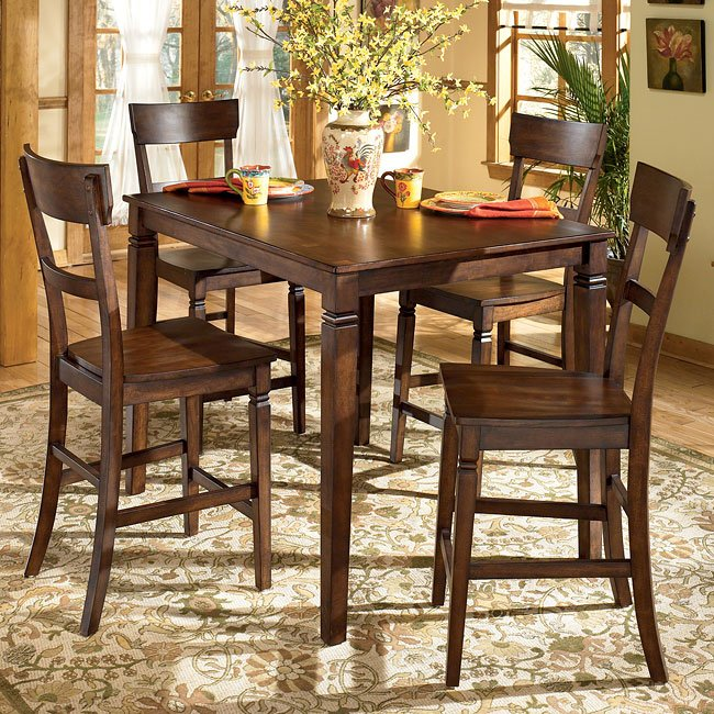 Barrister 5-Piece Counter Height Dinette Signature Design