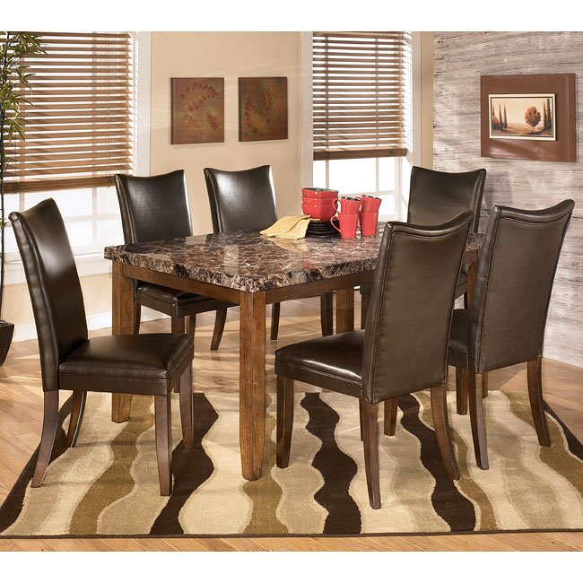 Lacey Dining Room Set With Charrell Brown Chairs By