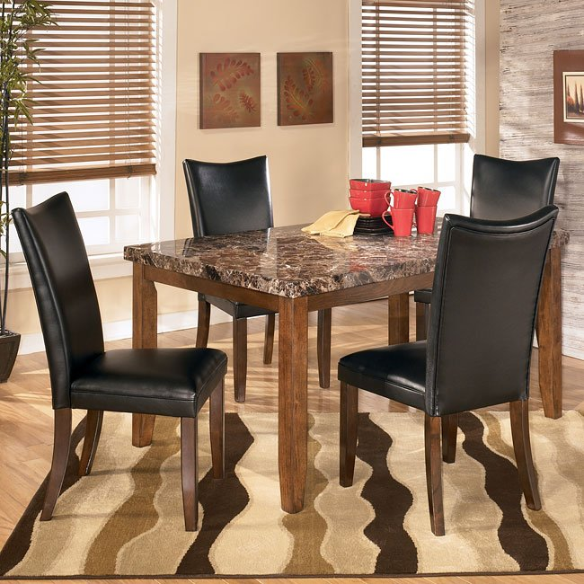 Lacey Dining Room Set With Charrell Black Chairs By