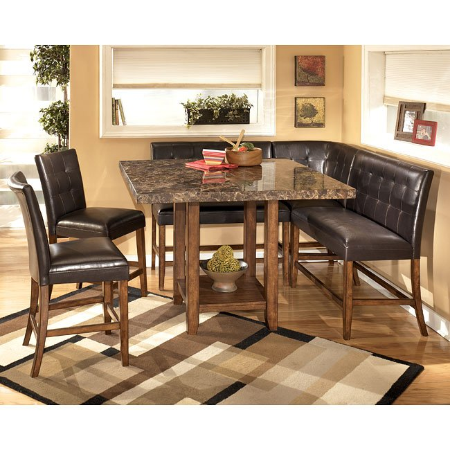 Lacey Corner Counter Height Dining Room Set Signature