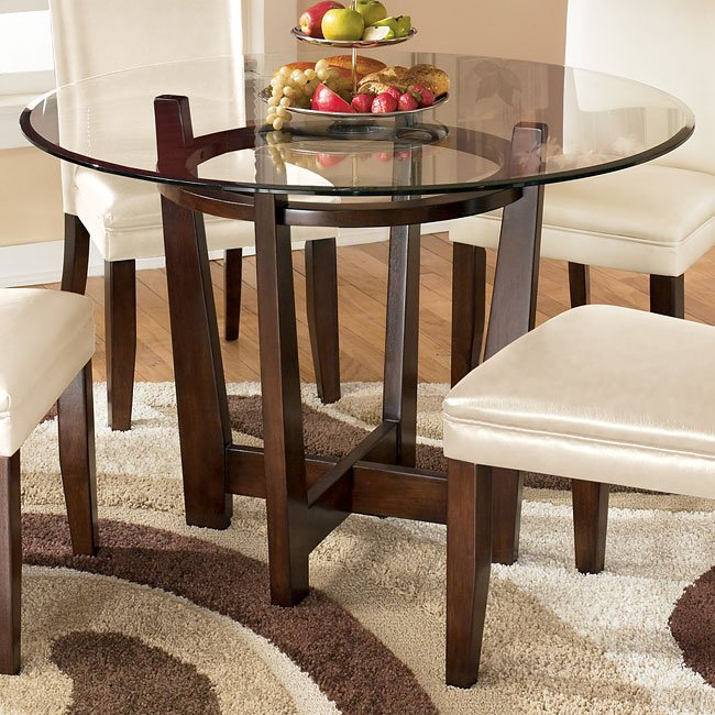 Charrell Round Glass Top Table By Signature Design By