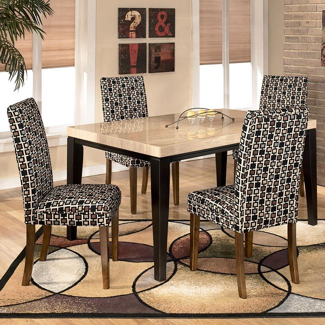 Naomi Dining Room Set With Onyx Chairs By Signature Design By Ashley Furniturepick