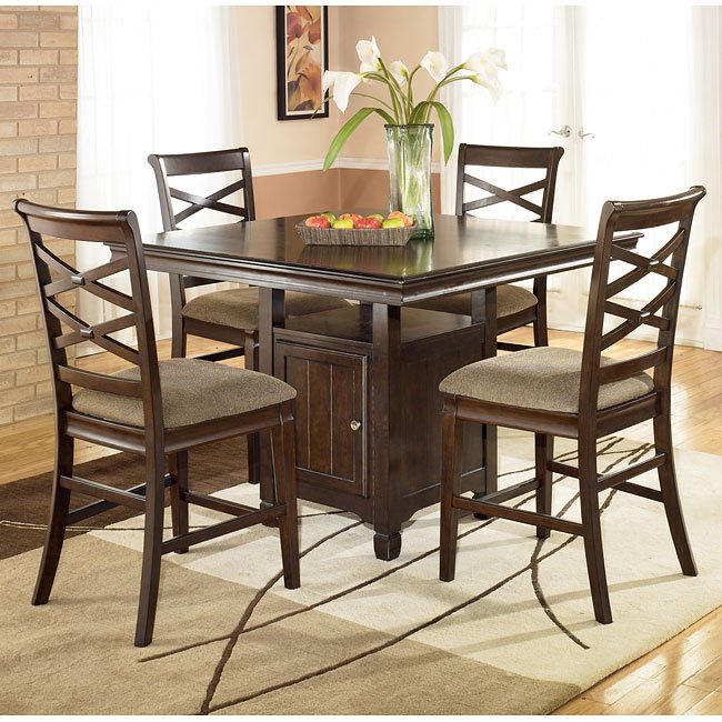 Ashley Room Furniture: Hayley Counter Height Dining Room Set Signature Design By