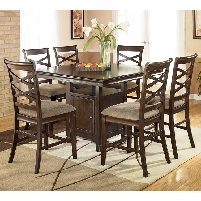 Signature Design By Ashley Furniture Hayley 7 Piece Dining: Hayley Counter Height Dining Room Set By Signature Design